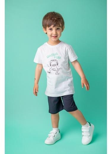 Zeyland Beyaz Funny Monster T-Shirt ve şort Takım (9ay-7yaş) Beyaz Funny Monster T-Shirt ve şort Takım (9ay-7yaş) Beyaz